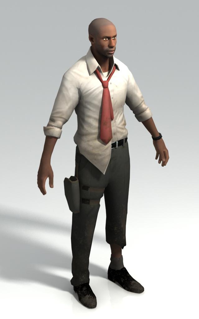 Louis IT Analyst Left 4 Dead Character 3d Model 3ds Max