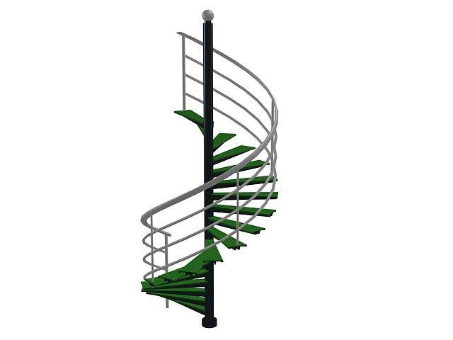 Metal spiral staircase 3d model 3ds max files free
