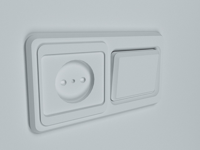 Switch and socket 3d model 3D Studio,3ds max files free