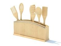Kitchen utensil holder 3d model 3ds max files free ...
