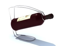 Wire wine bottle holder 3d model 3ds max files free ...