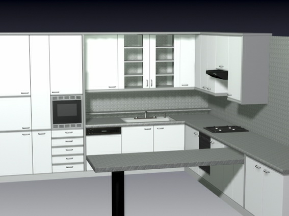 Rd.com home decor your kitchen will become your favorite part of the house with these tips and tricks. L kitchen with counter 3d model 3D Studio,3ds max files free download - modeling 24431 on CadNav