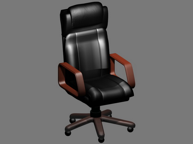 Executive chair with headrest 3d model 3D Studio3ds max