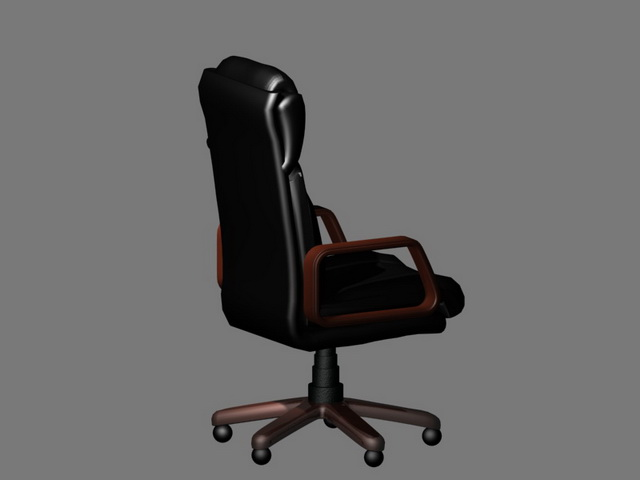 office chair 3d model captain seat covers executive with headrest studio 3ds max files free black leather design available object format scanline render texture jpeg