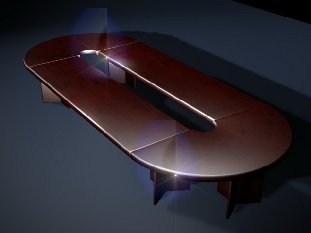 Executive conference table 3d model 3D Studio3ds max