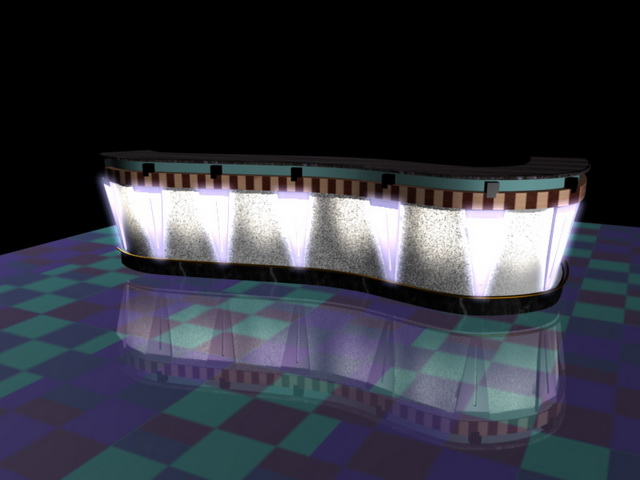 Pub bar counter 3d model 3D Studio3ds max files free