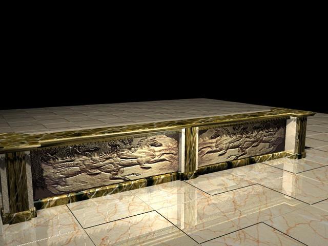 Antique bar counter 3d model 3D Studio3ds max files free