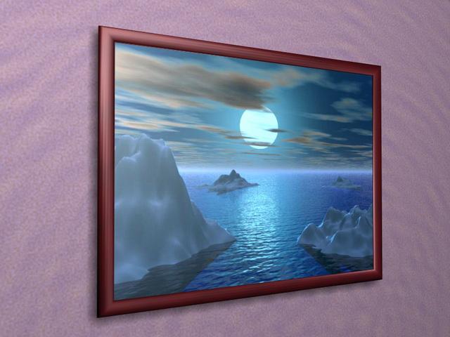 Decorative picture frame 3d model 3D Studio3ds max files