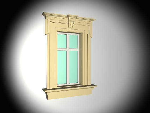 Spanish Style Window With Trim 3d Model 3ds Max Files Free