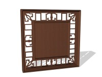 Chinese lattice window panels 3d model 3ds max files free ...
