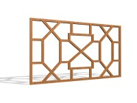 Decorative wood window grills 3d model 3ds max files free