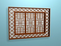 Lattice window design 3d model 3ds max files free download ...