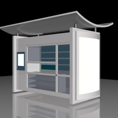 Light Fixture For Kitchen Wooden Set Modern Bus Shelter 3d Model 3ds Max Files Free Download ...