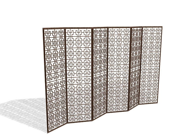 Lattice room divider screen 3d model 3ds max files free