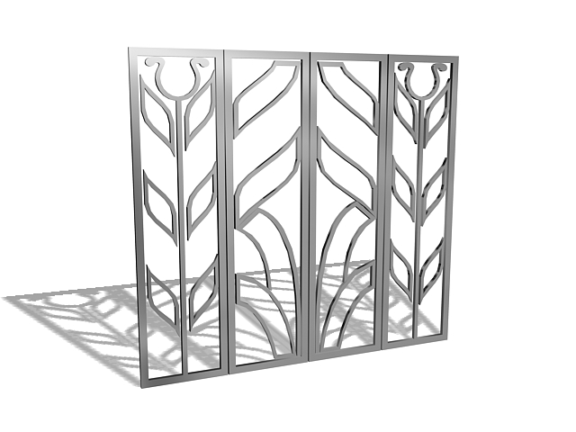 Metal window bars 3d model 3ds max files free download