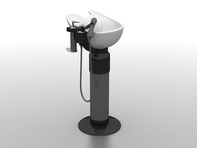 massage chair bed balancing ball hair salon basin 3d model 3ds max files free download - modeling 26725 on cadnav