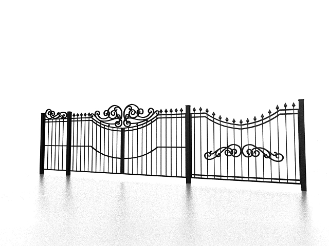 Cast Iron Garden Fencing 3d Model 3ds Max Files Free - Inspirational