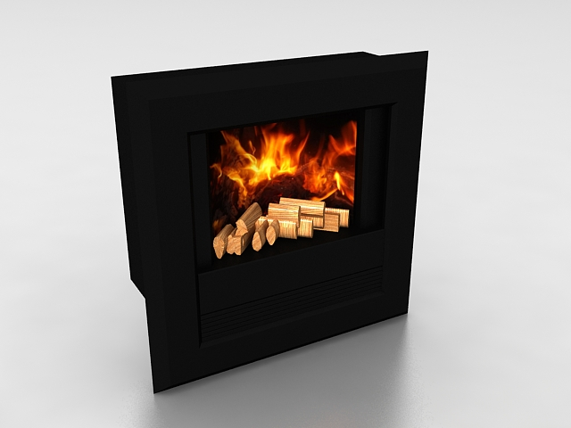 Wall mount fireplace 3d model 3ds max files free download