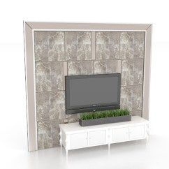 Aluminum Kitchen Chairs Sink Island Tv Feature Wall Design 3d Model 3ds Max Files Free ...