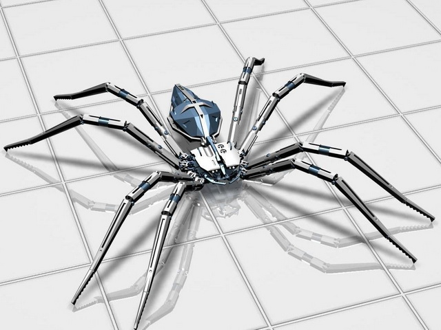 Robot spider 3d model 3ds max files free download