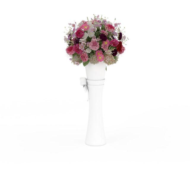 kitchen table light fixture metallic wall tiles wedding flower stand column 3d model 3ds max files free ...