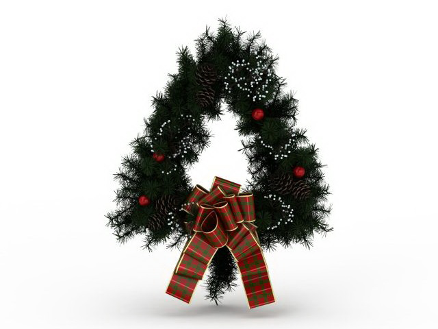 free 3d kitchen design software delta izak faucet triangle christmas wreath model 3ds max files ...