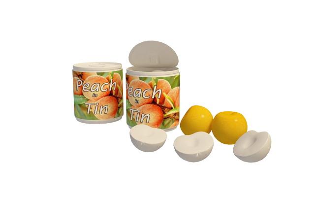 Canned Peach Halves 3d Model 3ds Max Files Free Download Modeling 32441 On CadNav