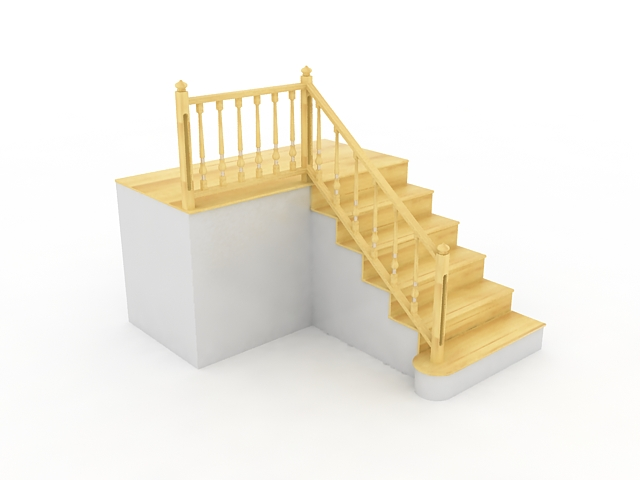 Terrace stairs 3d model 3ds max files free download