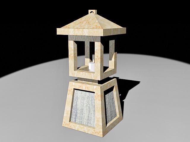 Japanese Garden Stone Lantern 3d Model 3ds Max Files Free Download Modeling 33218 On CadNav