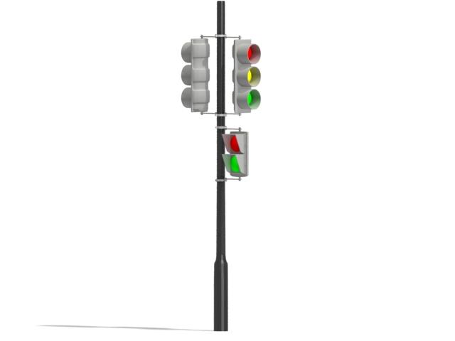 Public transport traffic light 3d model 3ds max files free