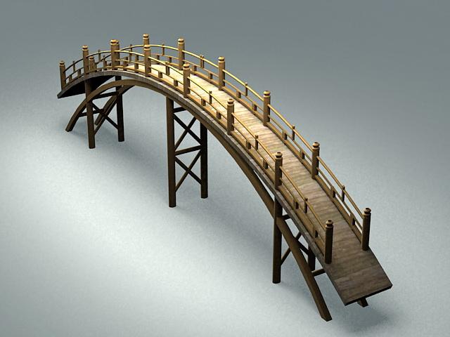 Japanese Garden Bridge 3d Model 3ds Max Files Free
