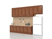 One wall kitchen design 3d model 3ds Max files free ...
