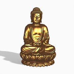 Bronze Kitchen Appliances Renew Cabinets Refacing Refinishing Buddha Statue 3d Model 3ds Max Files Free Download ...