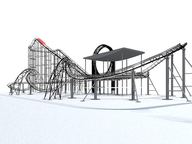 Roller coaster amusement rides 3d model 3ds Max files free