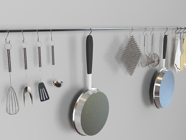Kitchen Utensils Set 3d Model 3ds Max Files Free Download