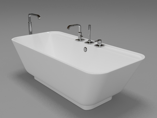 industrial kitchen faucet commercial hot box free standing tub 3d model 3ds max,autodesk fbx files ...