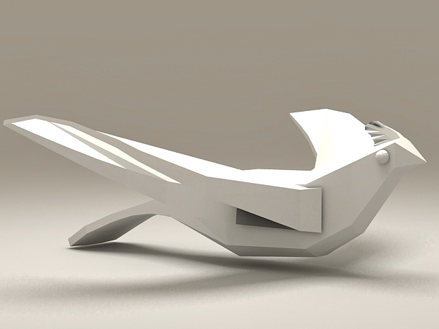 Abstract Bird Sculpture 3d model 3D Studio files free