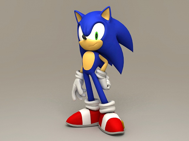 Sonic the Hedgehog 3d model Object files free download