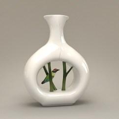 Decorative Ceramic Tiles Kitchen Oakley Sink Backpack Porcelain Bird Vase 3d Model 3ds Max Files Free Download ...