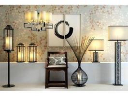 tall square kitchen table apron sink floor lamp 3d model free download - cadnav.com