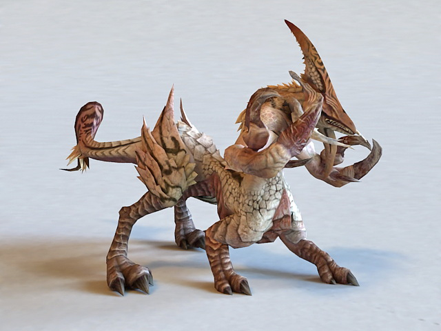 Fantasy Monster Beast Creature 3d Model 3ds Max Files Free