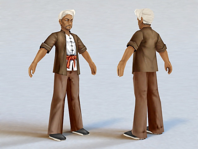 Ancient Chinese Peasant Farmer 3d Model 3ds Max Files Free