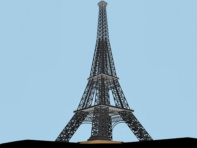 Eiffel Tower 3d Model 3ds Max Files Free Download Modeling 37353 On CadNav