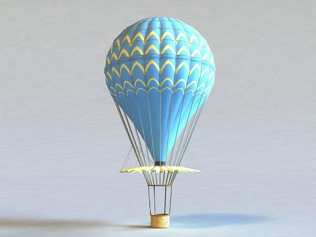 Hot Air Balloon 3d Model 3ds MaxGoogle SketchupAutodesk FBXObject Files Free Download