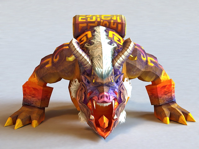 Chinese Mythical Taotie Monster 3d model 3ds MaxObject
