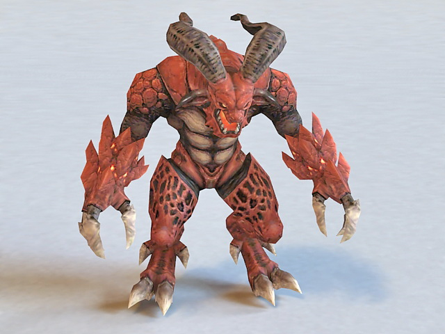 Lava Demon Monster 3d model 3ds Max files free download