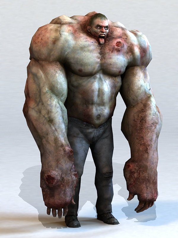 Zombie Hulk 3d Model 3ds Max Files Free Download