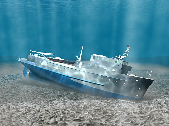 Underwater Shipwreck 3d Model 3ds Max Files Free Download