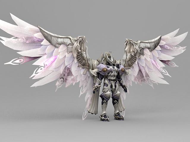 fantasy knight armor angel