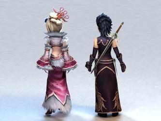 3d anime warrior medieval couple poly low cadnav file